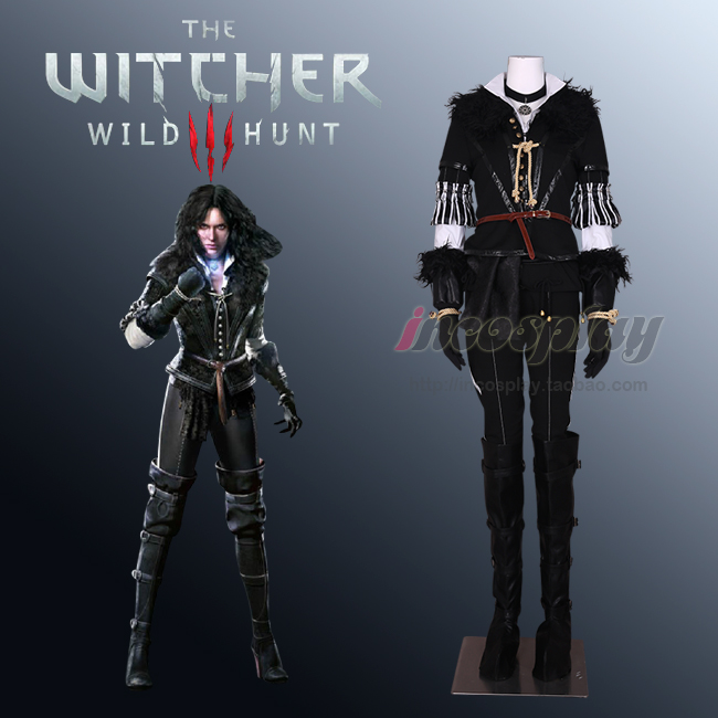 The Witcher 3: Costume de Cosplay Yennefer de chasse sauvage sur mesure