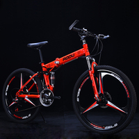 Mountain Bike 26 21 24 27Speeds Aluminum Alloy Folding Variable Speed Cycling Double Vibration Damping Brakes