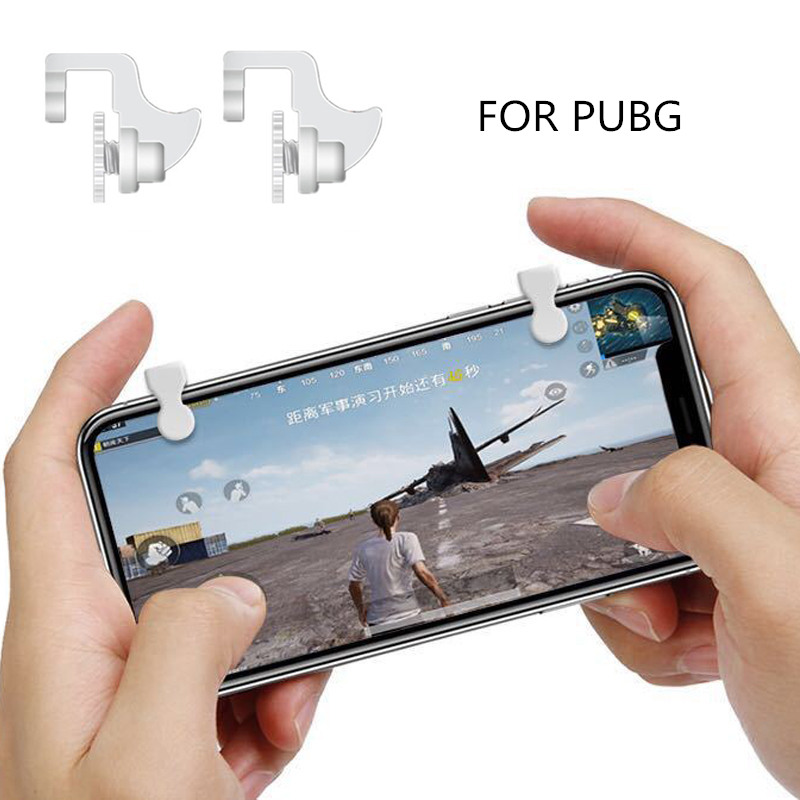 1Pair PUBG Controllers Portable Gamepad Mobile Gaming Controller For PUBG Aim Keys L1/R1 Shooter Trigger Gaming Accessories   все цены
