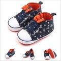 2016 Горячая Детская Обувь Prewalker Мальчики Малышей Новорожденных Первый Ходунки Жесткий Sole Холст Bebe Обуви За Пределами