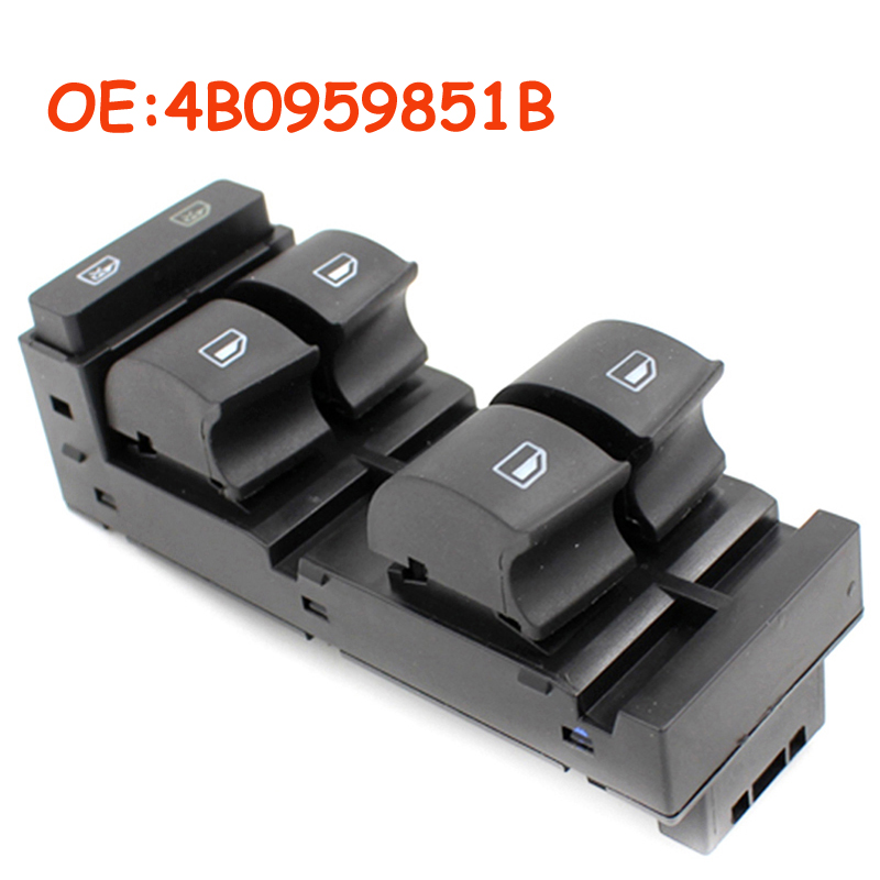 OEM 4B0959851B 4B0 959 851 B For Audi A3 A6 C5 RS6 S6 <font><b>Allroad</b></font> 1998 - 2004 Master Power Window Switch High Qiality Autoparts image