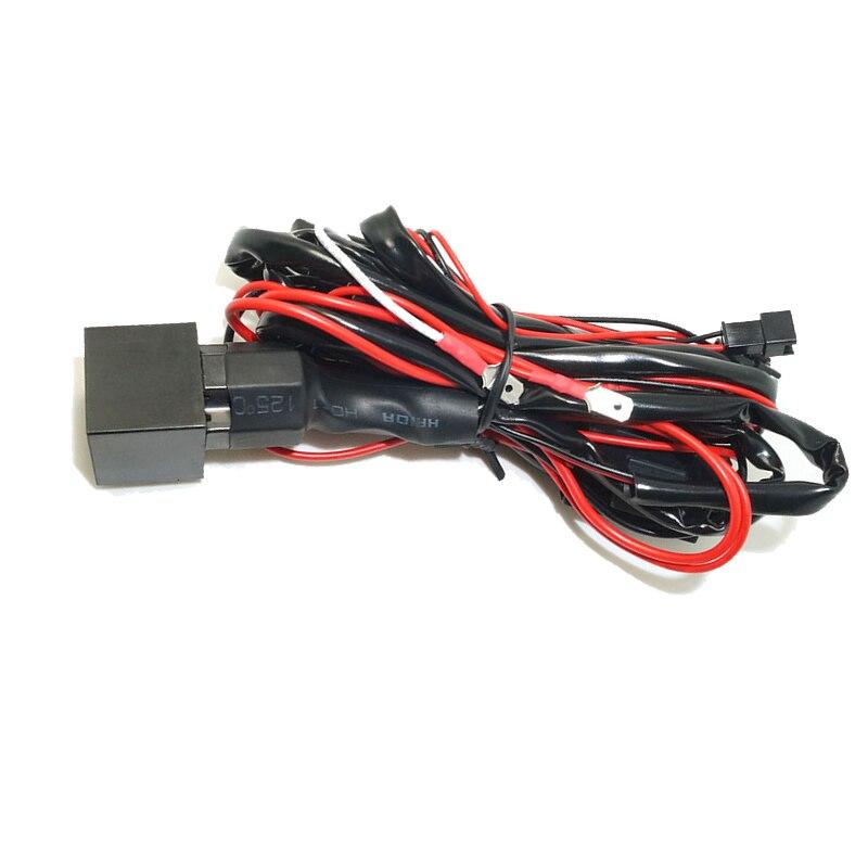 LEEWA 5pcs Relay wiring harness kit for BMW CCFL/LED angel eyes