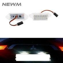2 шт ксенон белый светодиодный светильник номерного знака номерной знак лампа светильник для Mitsubishi Lancer EVO X 2003- с CE E-MARK