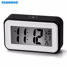 Snooze+Backlight+Calendar Multi-function LED Alarm Clock Touch Digital LCD Screen Desktop Clock + USB Charger Cable AIA00489-6