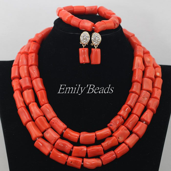 Marvelous Orange African Coral Beads Jewelry Set Nigerian Wedding African Beads Necklace Set 2016 New Free Shipping CJ461 marvelous orange african coral beads jewelry set nigerian wedding african beads necklace set 2016 new free shipping cj461