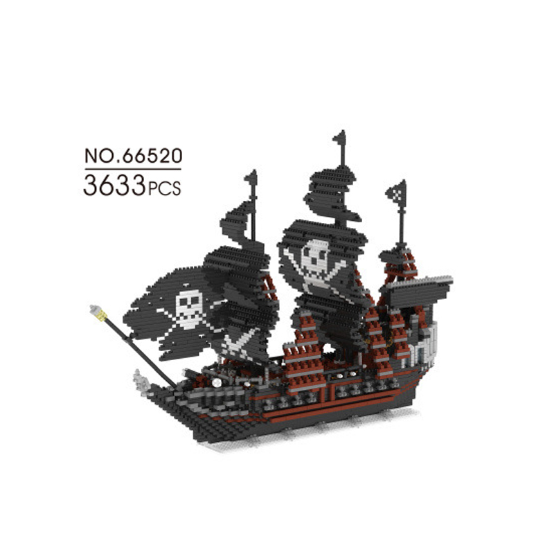 Stacking Blocks Intellective Hot Movie Caribbean Pirate Nanoblock Black Pearl Ship 3633pcs Micro Diamond Building Block Assemable Bricks Toys Collection At Any Cost