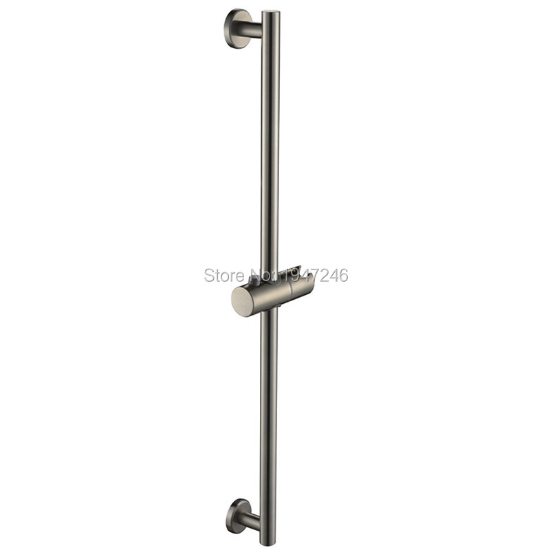 Bagnolux 27 Inch 304 Stainless Steel Bathroom Lavatory Hand Shower Adjustable Sliding Bar Bracket Wall Mount Brushed Nickel