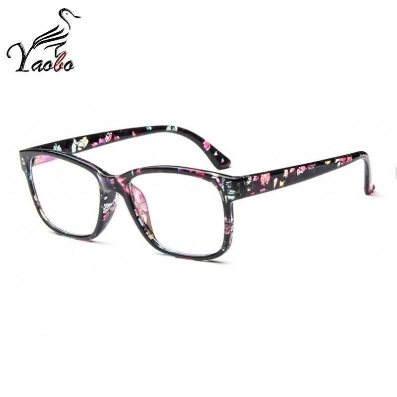 2abd53ad5838 Square Female Eyeglasses Famous Brand Transparent Computer Glasses Frame  Black Spectacles Women Nerd Myopia Clear Glasses-in Eyewear Frames from  Apparel ...