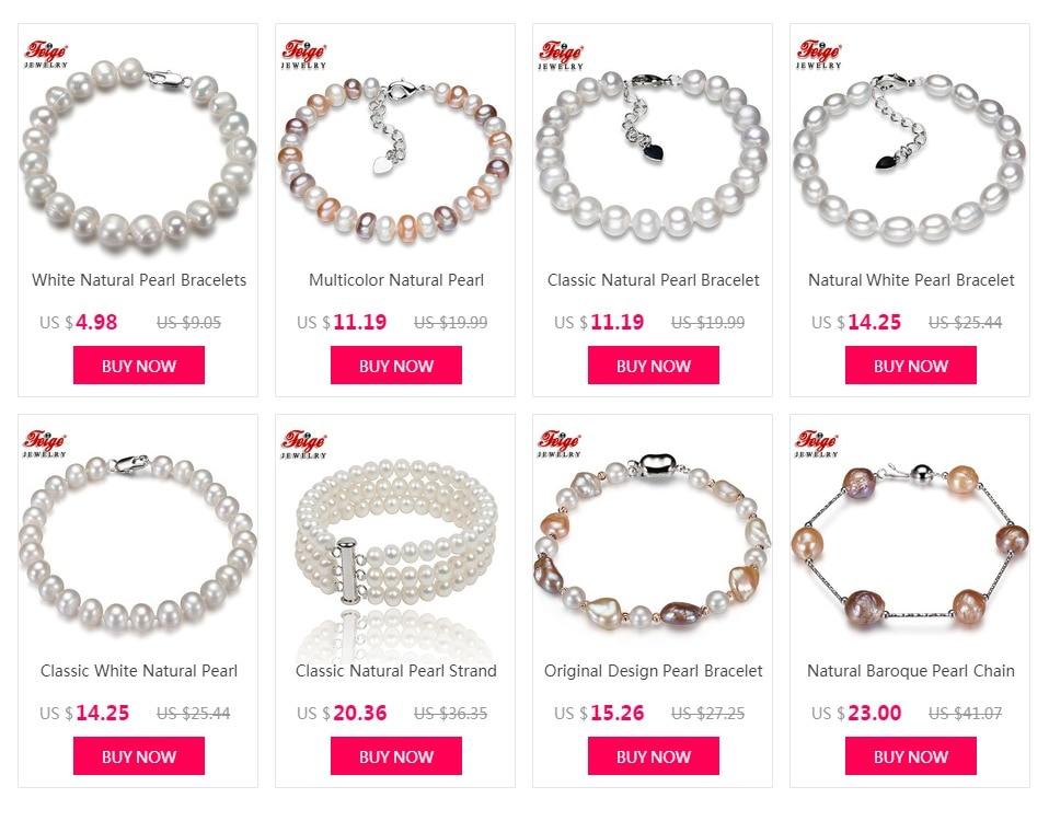 3c0ba2296b20 Clásico Natural Strand perla pulsera para las mujeres joyería de  aniversario regalos de 6-7 MM blanco perla de agua dulce