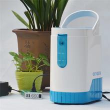 Oxygen Concentrator 1-5L/min Adjustable Portable Generator Machine for Home and Travel Use With 10000mAh Lithium Battery