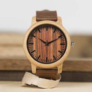 Image 5 - בובו ציפור WD10 Mens יוקרה למעלה מותג עיצוב שעון גברים עץ שעוני יד מעצב שעונים יוקרה במבוק שעון אריזת מתנה מקבלים Oem