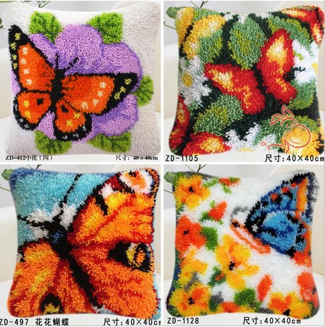 Extreem Nieuwe diy Kussen borduren tapijt deken breien naald vilt &CU29