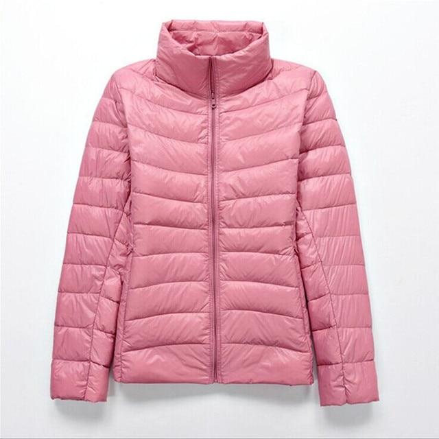 2019 מותג 90% לבן ברווז למטה קל במיוחד מעילי נשים סתיו חורף למטה מעיל מעיל נשי zip כיס למטה מעיל מעיילים