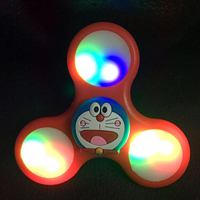 Fidget Spinner Cartoon Colors LED Flash Of Light Hand Spinner Tri Spinner Anti Stress Sensory Ball