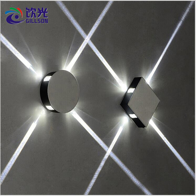 Modern LED Wall Lamp Adjustable Beam Angle Wall light for Bedroom Dinning Hotel Hallway Indoor 4W 4 LEDs Decorative Sconce