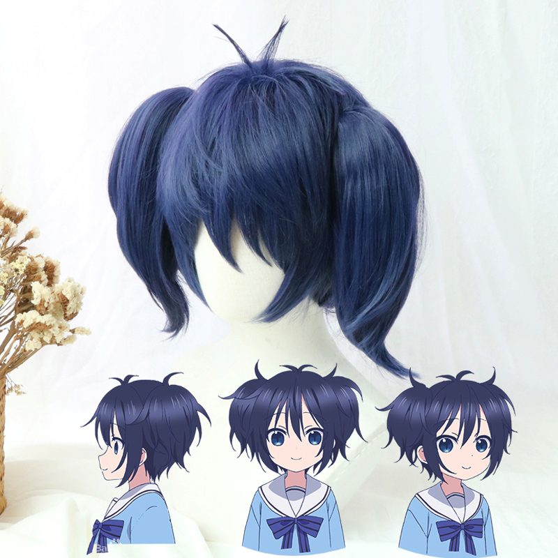 Happy Sugar Life Cosplay Wig Shio Kobe Wigs Heat Resistant Synthetic Hair Perucas Cosplay Wig+Wig Cap