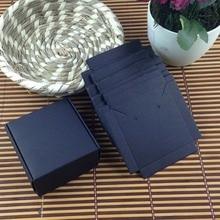 1 grup = 100 kutusu + 100 adet iç Kartı 65x65x30mm Beyaz/Siyah/ kraft Kolye/Küpe KUTUSU BOXEarring/Kolye/Yüzük/takı seti