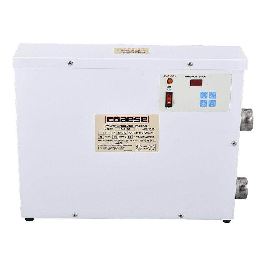 5.5KW chauffage électrique SPA piscine et SPA bain chauffage baignoire chauffe-eau Thermostat accessoires de piscine 220 V/380 V