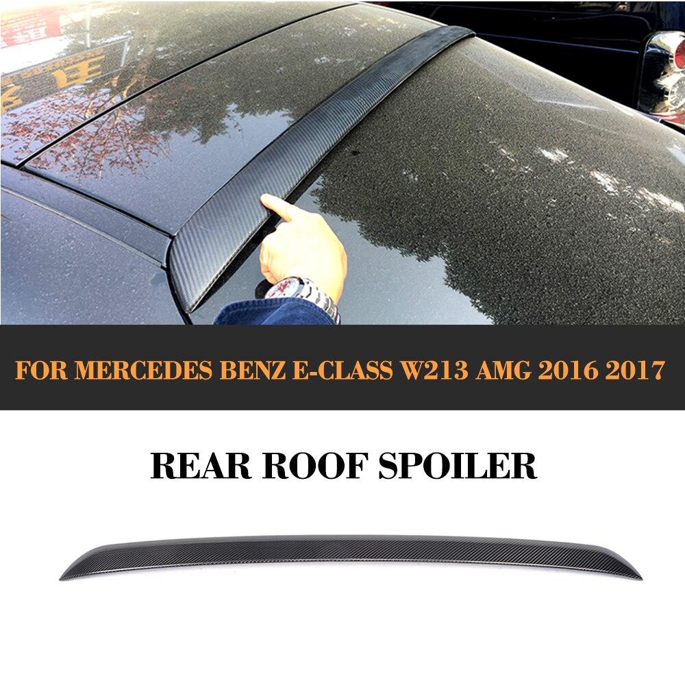 Mercedes Benz E-Class E200 E300 E400 E500 E550 E63 AMG Sedan 4 karbon 16-17 üçün karbon lifli dam örtüyü
