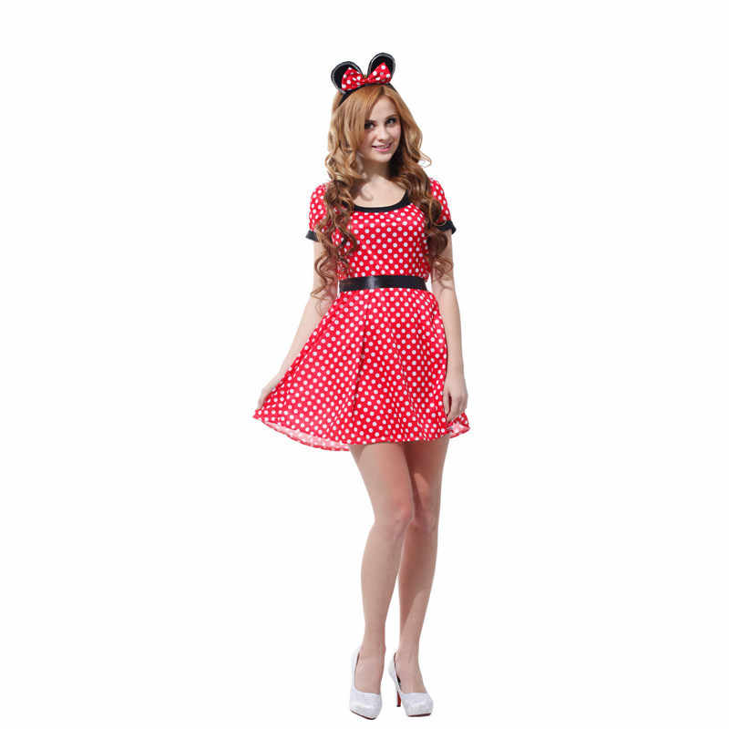 5a4fcf8b5762a ... Adult Cute Cartoon Outfit Nifty Minnie Mouse Christmas Cosplay  Halloween DS Nightclub Costume Japanese Anime Xmas ...