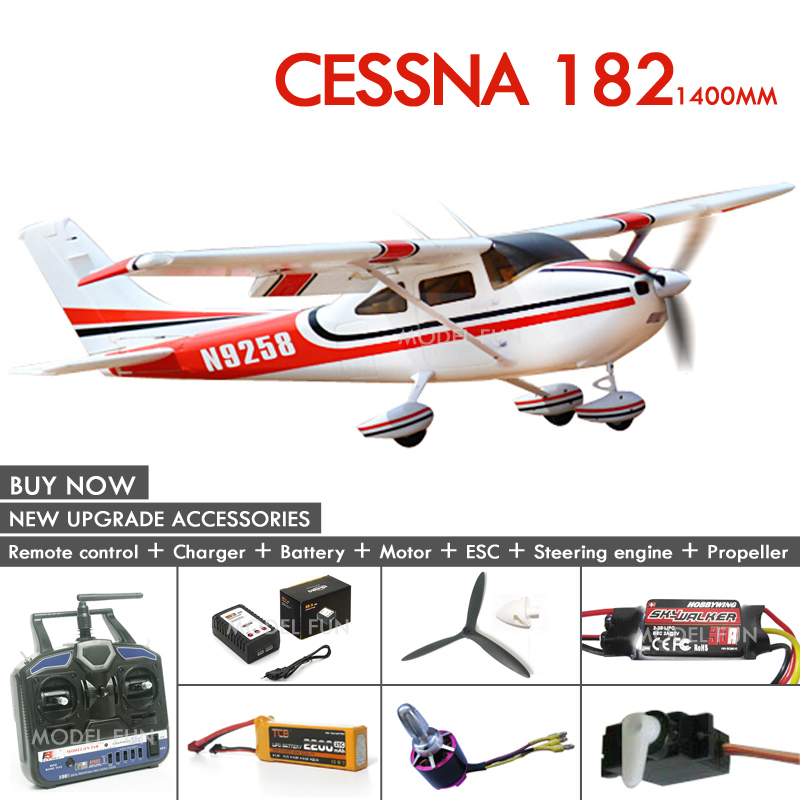 2017 New arrival Cessna 182 1400mm/810 mm epo rc plane model rtf/kit quality brushless DIY glider wingspan color free shipping free shipping rc airplane cessna 182 810mm small cessna remote control air plane model epo hobby airplanes frame kit aeromodel