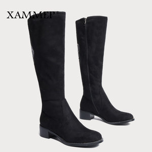 Image 4 - Womens Winter Shoes Knee High Boots Plus Big Size High Quality Faux Suede Brand Women Shoes Wool Women Winter Boots