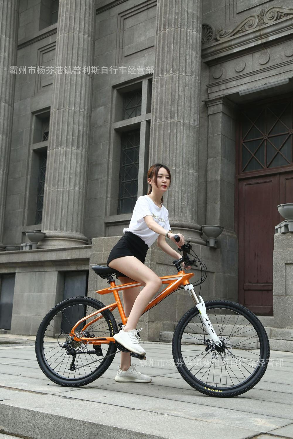 26 Inch Aluminum Alloy Mountain Bike 24 Speed Oil Brake Double Disc Brake Bicycle Factory Direct One Generation