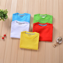 2019 summer baby kids boys grils T shirt solid casual soft TEE short-sleeved  cute tops cotton tshirt for 3 to 12 years
