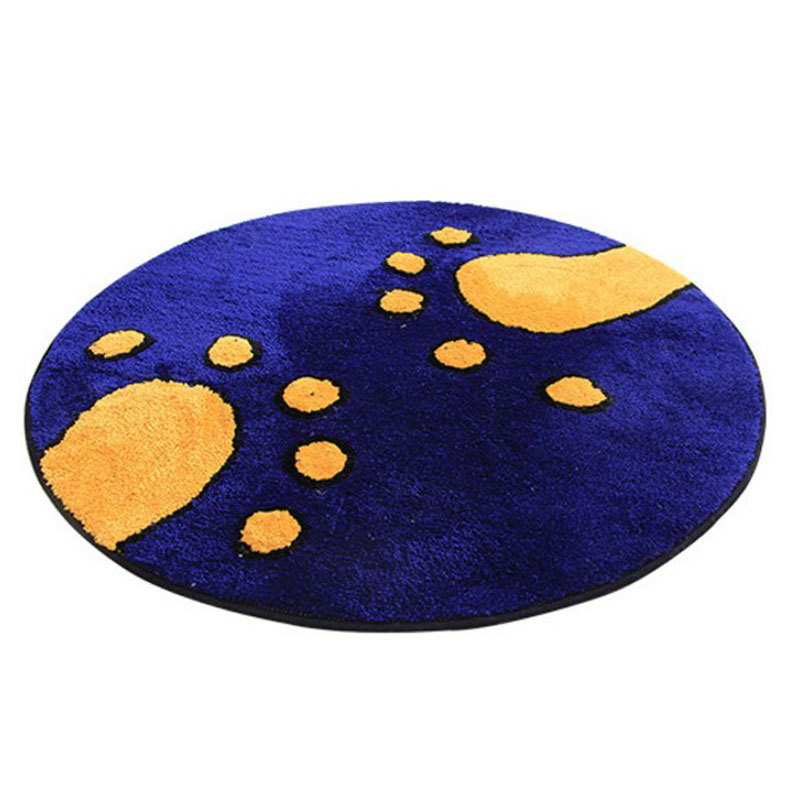 110 X 110cm Round Carpet Computer Chair Study Alfombras Living Room Bedroom Bedside Carpet Anti - skid Mats Mat Water Absorption