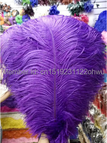 Promotional price 50pcs14 16 inches 35 40cm purple ostrich feathers for large weddings and parties decorations