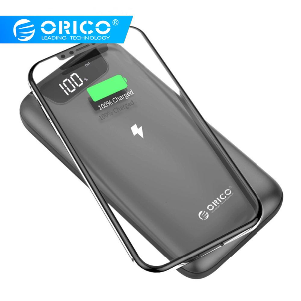 Chargeur sans fil ORICO 10000 mAh 2A chargeur portatif à deux bornes usb pour iPhone X 8 Samsung S9 chargeur de batterie 5 W chargeur sans fil