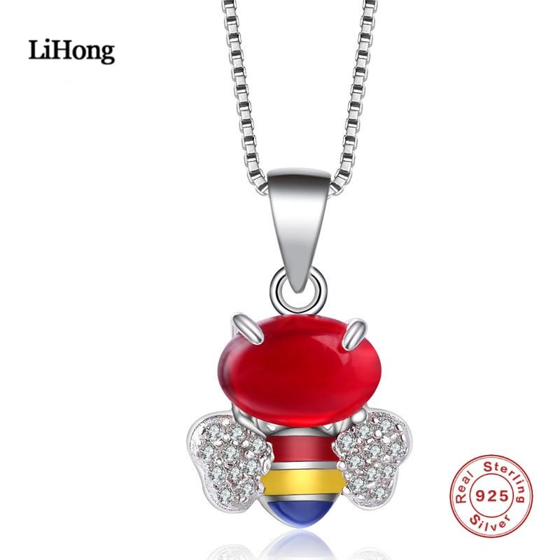 2018 új design AAA cirkon kristály méh medál nyaklánc hölgyek - Finom ékszerek