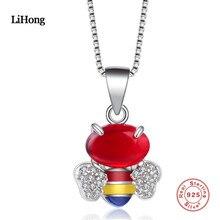 2018 nový design AAA zirkonové křišťálové včelí přívěsek náhrdelník dámy šarm šperky velkoobchod