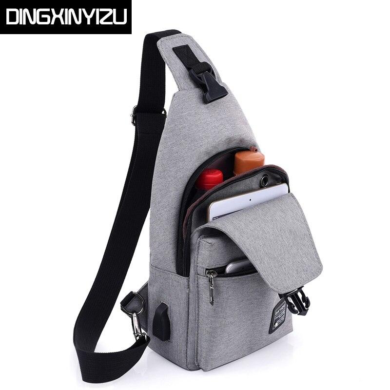 ce575c365ec DINGXINYIZU Canvas Unisex Chest Pack Multifunctional Men Messenger Bag  Casual Travel Women Small Single Shoulder Strap Back Bags