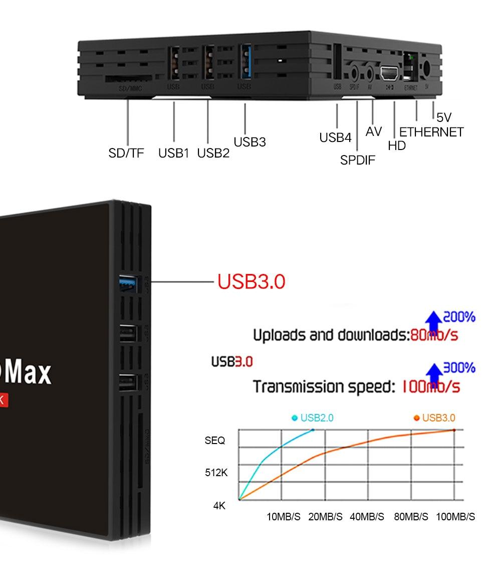 Smart Android TV Box 4 GB 32 GB Smart TV Rockchip RK3328 USB3 0 H 265 4 K  de Google jugar Netflix reproductor de medios