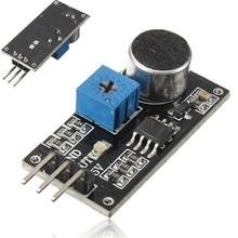 2017 Горячей Продажи Звуковой Датчик Обнаружения Модуль LM393 Чип Электретный Микрофон Для Arduino
