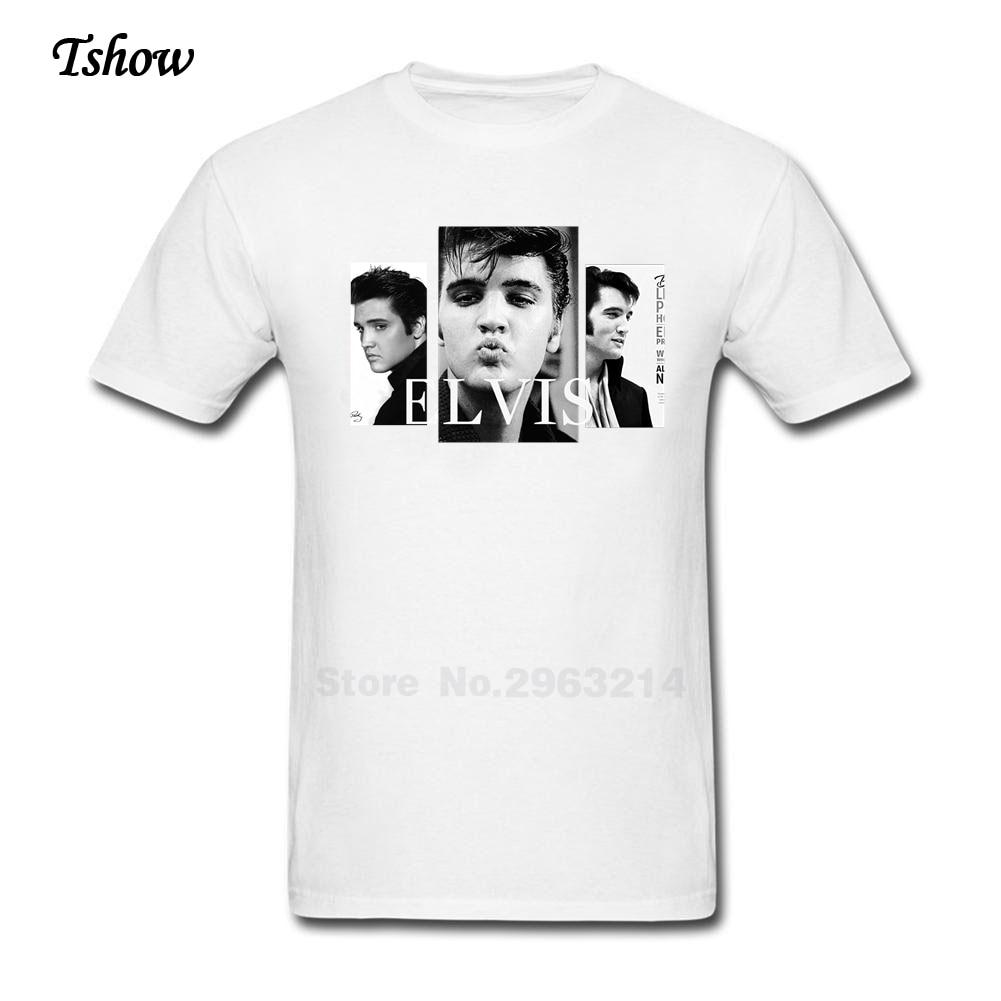 Elvis presley t shirt men leisure summer print crew neck for Elvis t shirts for men