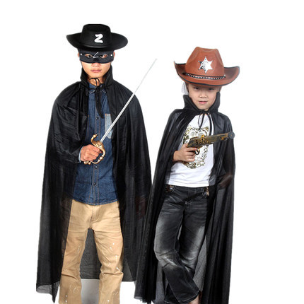 2015 New Halloween Fancy Dress Costume Cloak Wizard Children All