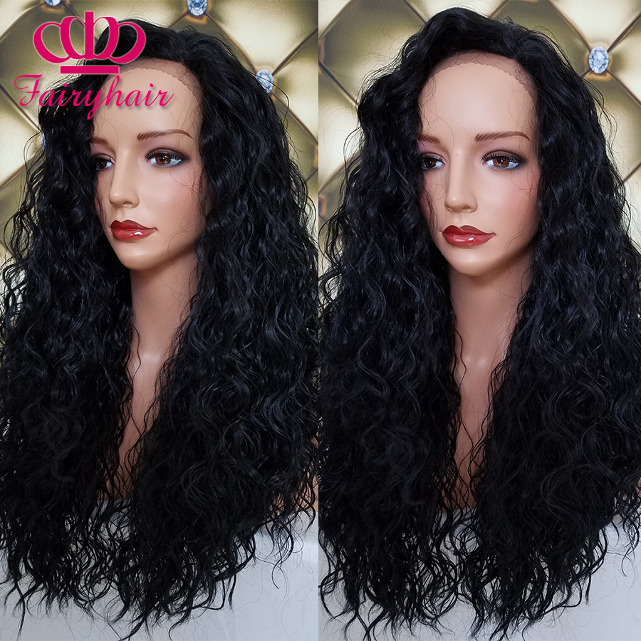Lace Front loose curly Wigs Natural Baby Hair Synthetic Lace Front Wig Black Hair Glueless Wig Heat Resistant for Black Women4