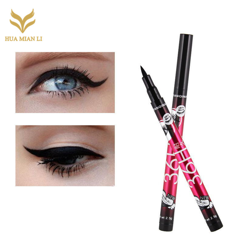 HUAMIANLI 36H Black Waterproof Liquid Eyeliner Make Up Beauty Comestics Long-lasting Eye Liner Pencil Makeup Tools for eyeshadow