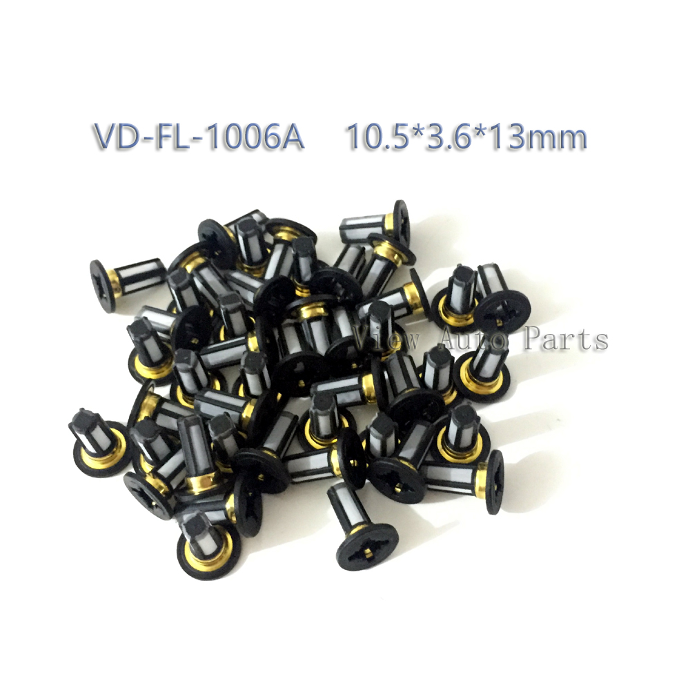 100pcs Fuel Injector Micro Basket Filter Fit for Chevrolet GMC car engine