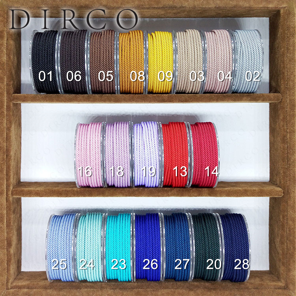 About the Fit TA 3mm 50M Milan Braided Silk Cords String Crafts Beads Thread Jewelry Accessories Strap Ropes Bracelet Woven Lace цена