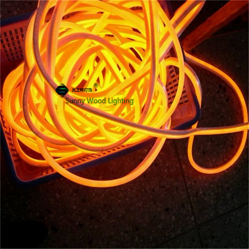 10 meters led neon flex tube ,220V input led sign board tube ,Flexible tube Orange with power cord and clips LNF-2514-220V patons fab big neon orange 8279