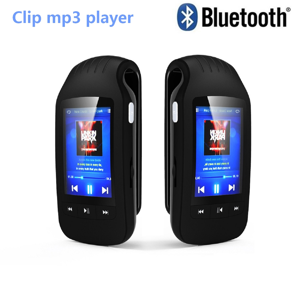 цена на Portable 8GB Mini Clip Bluetooth mp3 player HOTT 1037 Sport Pedometer FM Radio w/TF Card Slot Stereo Music Player 1.8 LCD Screen