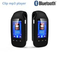 Taşınabilir 8GB Mini klip Bluetooth mp3 çalar HOTT 1037 spor pedometre FM radyo w/TF kart yuvası Stereo müzik 1.8 LCD ekran