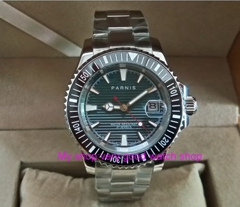 40mm PARNIS 21 jewels Automatic Self-Wind movement Auto Date Sapphire crystal luminous men's watches Mechanical watch pa47-p8
