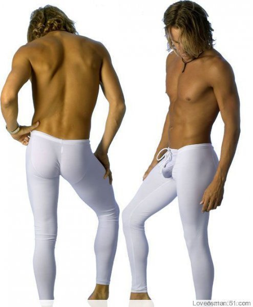 Male Tight-fitting Basic Trousers Solid Color Legging 100% Cotton Long Johns Easy Care Anti-wrinkle