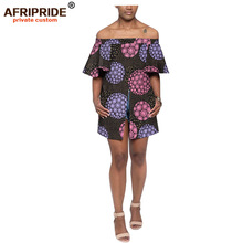 2019 AFRIPRIDE African Fashion Design Embroidery Lady Traditional Fabric Dashiki print Dress For Women A1925008