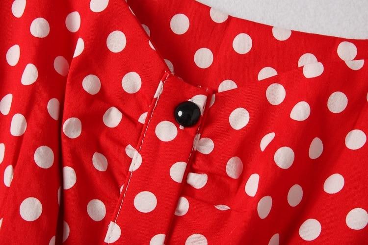 ALPHALMODA 18 New Polka Dot Shirt Pocket Dress Petal Sleeve Single Breasted Slim Sashes Women Fashion Summer Vestidos 9