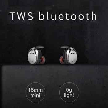 M9 TWS True Wireless Earbuds Micro Earpiece Mini Twins Headset Stereo Ear Bluetooth Earphone Headphones with Box #1115